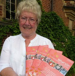 Cllr Val Richards with the new what's on guide