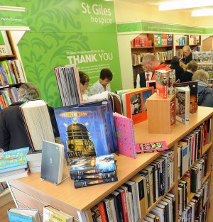 A St Giles Hospice book shop