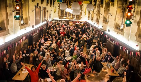 Crowds at the Lichfield Guildhall for the Winter Beer Festival. Pic: Rob Ings