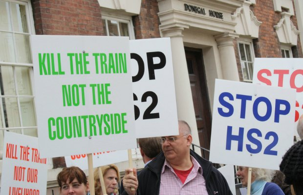 Stop HS2 protesters in Lichfield