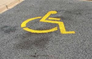 Disabled parking bay