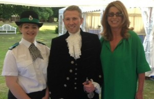 Cadet Ellie Gould, High Sheriff Johnny Leavesley and Deputy Police and Crime Commissioner Sue Arnold