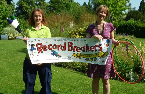 Ruth Witczak and Liz Leyshon get ready for the record breakers trail in Beacon Park