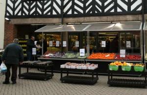 The Joe Richards fruit and veg shop in Lichfield
