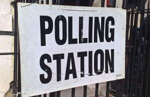 Polling station sign. Pic: secretlondon123