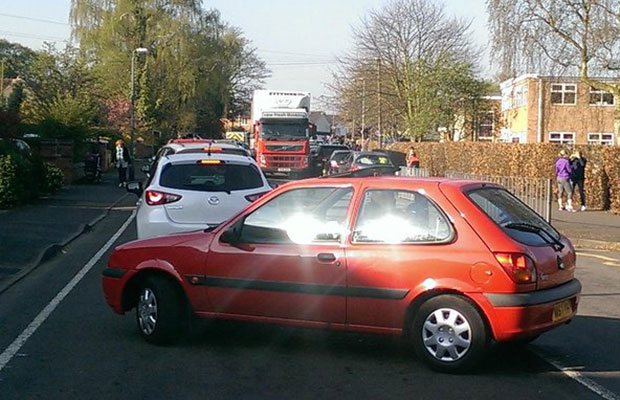Traffic on Cherry Orchard