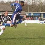 Matt Williams tries to hurdle a challenge. Pic: Dave Birt