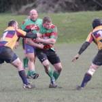 David Ward tries to break through a gap in the line. Pic: Joanne Gough