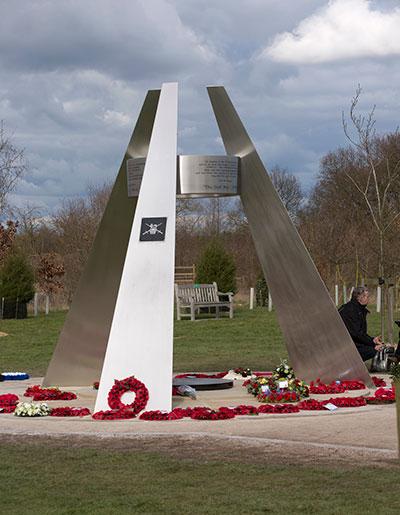 The new Operation Granby memorial at the National Memorial Arboretum