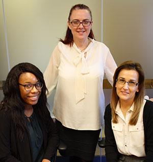 Kimberley Rodney, Trudi Knowles and Joanna Radzinska from inBOS