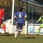 Matt Jukes pulls a goal back for Tividale. Pic: Dave Birt