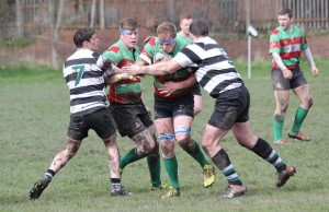 Josh Canning is held back. Pic: Joanne Gough