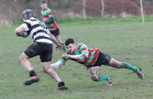 William Marsh at full stretch to tackle.Pic: Joanne Gough