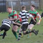 Tom O'Brien is tackled. Pic: Joanne Gough
