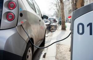 An electric car charging point. Pic: Håkan Dahlström