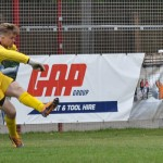Curtis Pond clears for Chasetown. Pic: Pamela Mullins