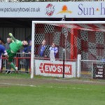 George-Washbourne's-shot-hits-the-cross-bar-and-bounces-out