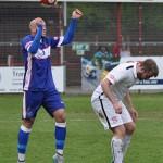 Rhys Thompson clears the danger. Pic: Pamela Mullins