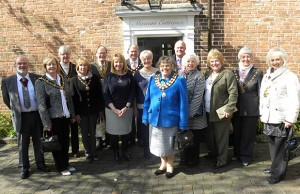 The civic leaders and their consorts at Erasmus Darwin House