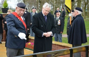 The Duke of Gloucester is shown the new remembrance garden