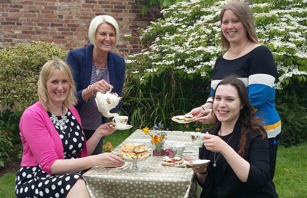 Sally-Ann Whatley, Jayne Newey, Sara Bayley and Hannah Price from Lichfield Cathedral School