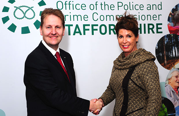 Police Commissioner Matthew Ellis with his deputy Sue Arnold