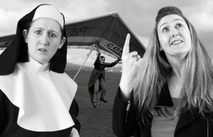 Sheila McMahon with her comedy character Sister Mary