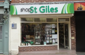 The St Giles Hospice shop in Lichfield