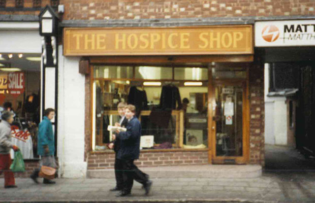 The original St Giles Hospice shop in Lichfield