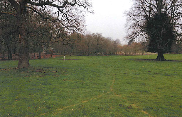 The proposed campsite on Abnalls Lane. Pic: Lichfield District Council planning