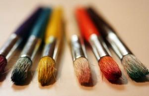 Paintbrushes. Pic: John Morgan