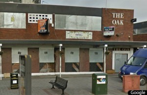 The former site of The Oak pub in Burntwood. Pic: Google Streetview