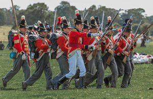 Military re-enactors in action