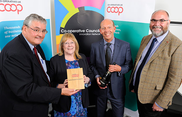 Central England Co-operative collecting their award
