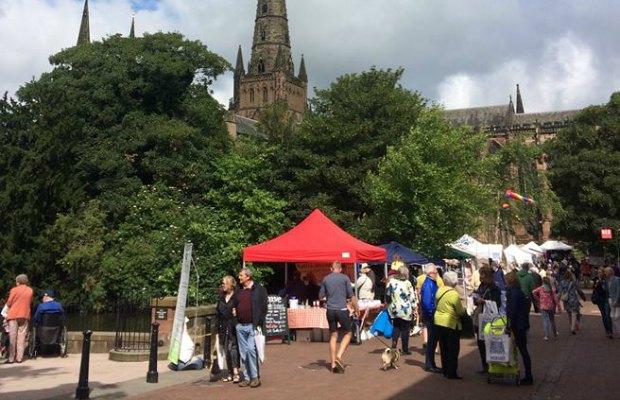 The Lichfield Festival Market. Pic: The Lichfield Festival
