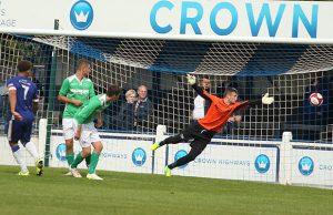 Ryan Wynter's effort finds the net. Pic: Dave Birt