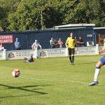 Mitchell Piggon's effort goes towards goal. Pic: Dave Birt