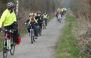 A cycling event in Staffordshire