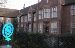 A pokestop outside Lichfield Library