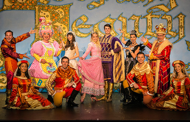 The cast of Sleeping Beauty on stage at the Lichfield Garrick