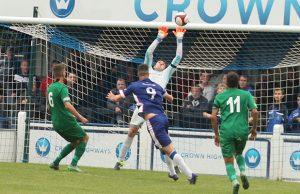 Mitch Piggon is denied. Pic: Dave Birt