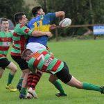 Zak Ranson and Ian Jones make a tackle. Pic: Joanne Gough