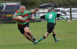 Paul Rogers skips away from a challenge. Pic: Joanne Gough
