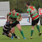 Owen Rookyard comes under pressure. Pic: Joanne Gough