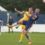 Josh Craddock puts in a challenge. Pic: Dave Birt