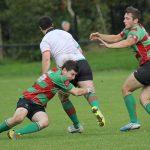 Ben Holt makes a tackle. Pic: Joanne Gough