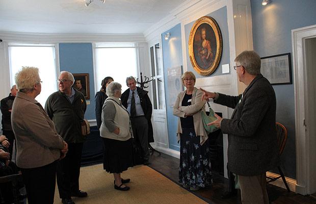 Tour operators exploring the Samuel Johnson Birthplace Museum