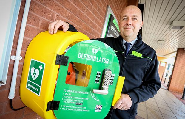 The new defibrillator at the Boley Park supermarket