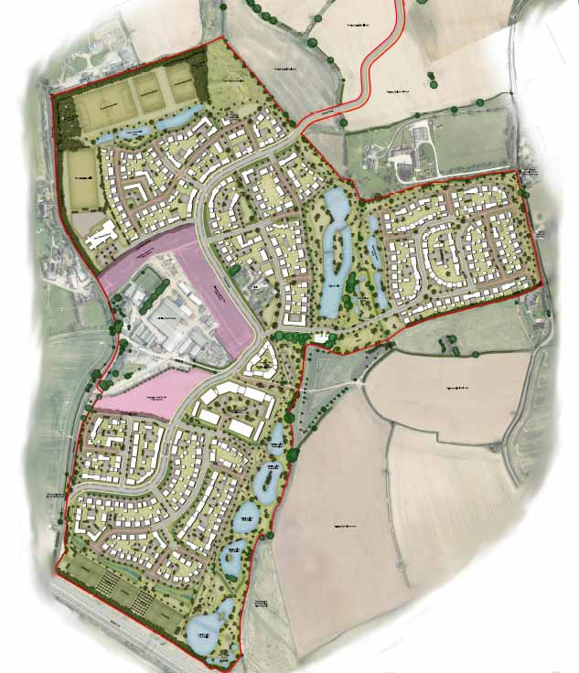 A map of the proposed development