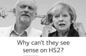 The new advert opposing HS2